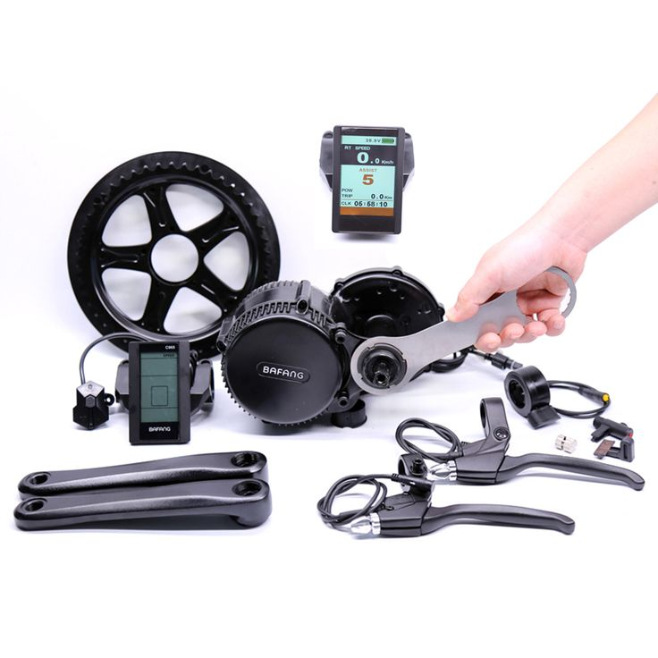 2017 New Arrival Bafang 48v 500w Electric Bike Kit Hot Sale Free Shipping Bbs02b Mid Drive Motor For