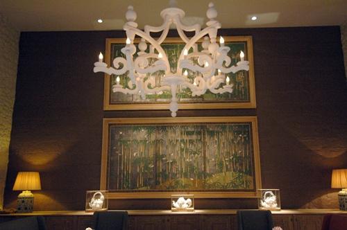The dining room at Troplong Mondot