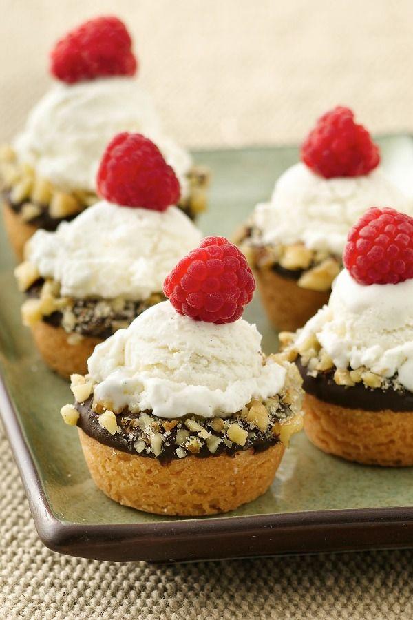 Mini Ice Cream Cookie Cups | Recipe