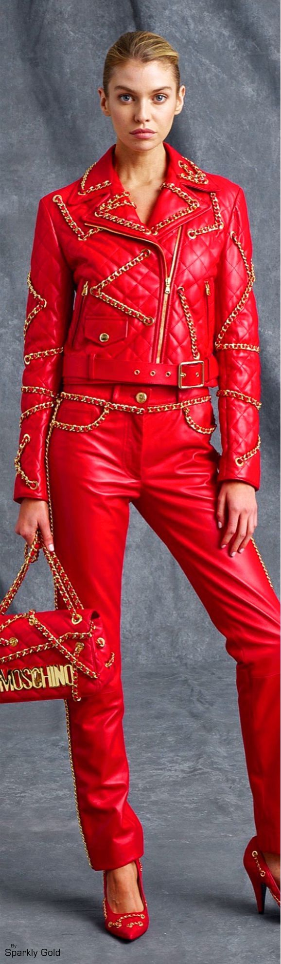 Moschino Resort 2016..LOVE the Jacket, Shoes, and Pants, but wear them at different times.
