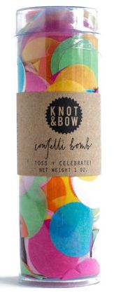 Colorful table decor confetti bomb for parties made with tissue paper