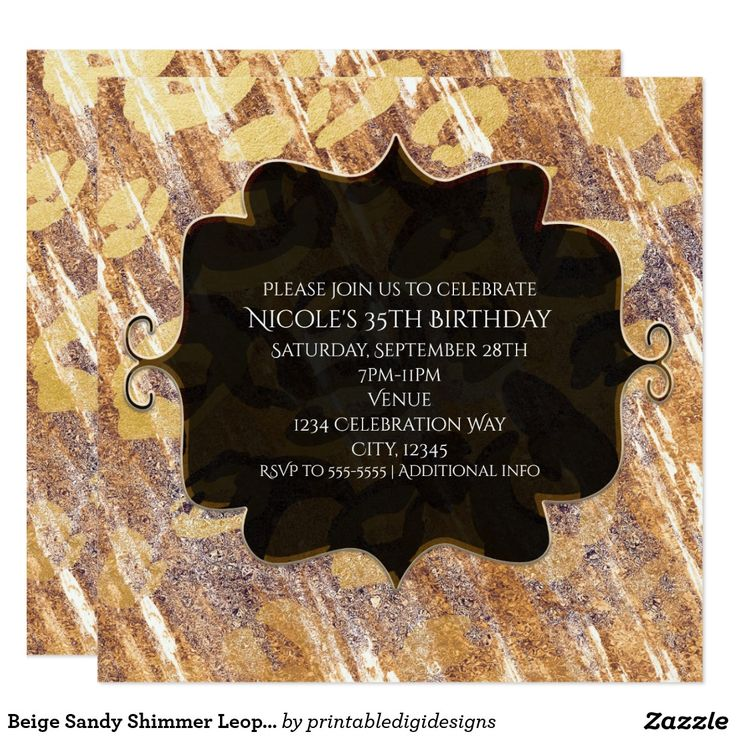 28 best Black & Gold Glam Chic Party Invitations images on ...