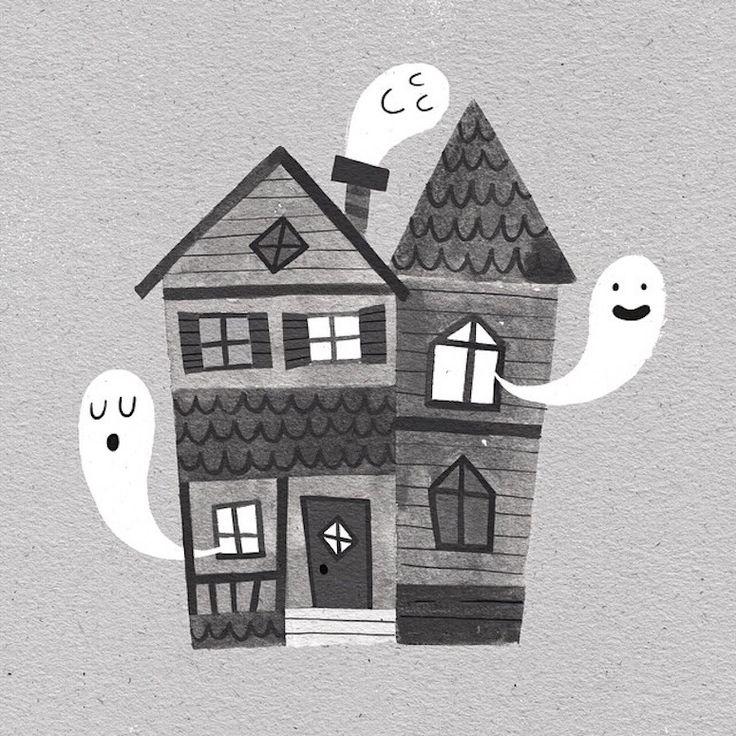 Best 25 house illustration ideas on pinterest Haunted house drawing ideas