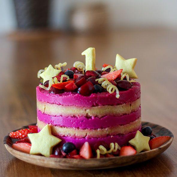 Dragonfruit and mango smash cake | Homemade cakes, Digestive
