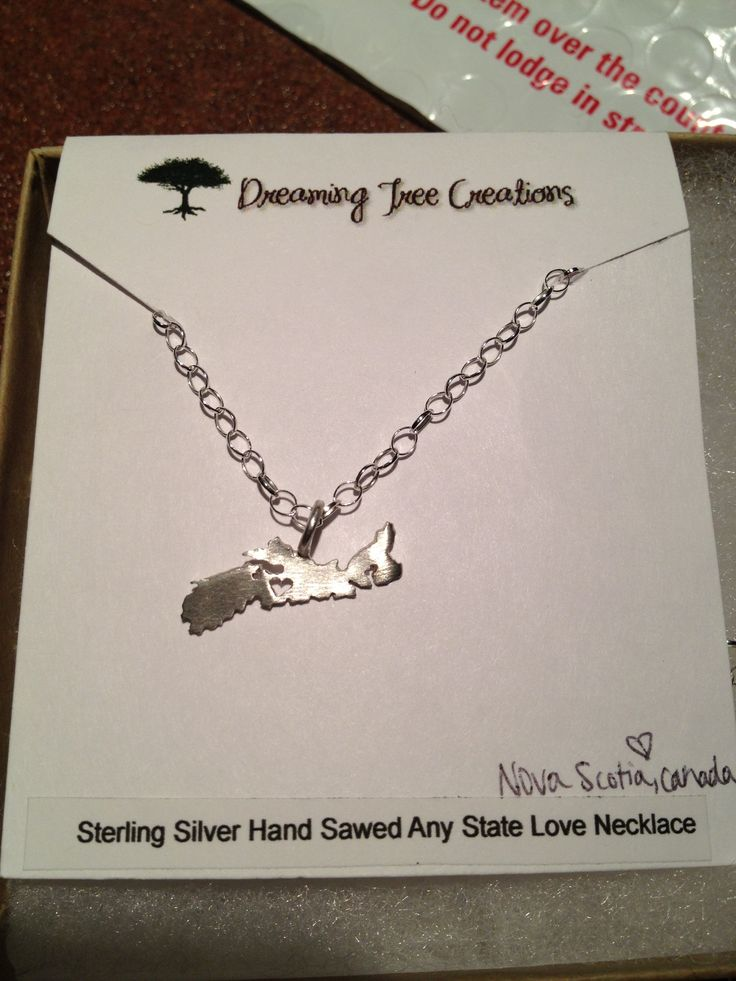 Handmade Nova Scotia necklace from etsy shop Dreaming Tree Creations.