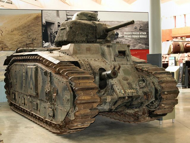 French WW2 Char B1 tank Re-Pinned by HistorySimulation.com
