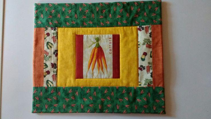 placemats patchwork carrots