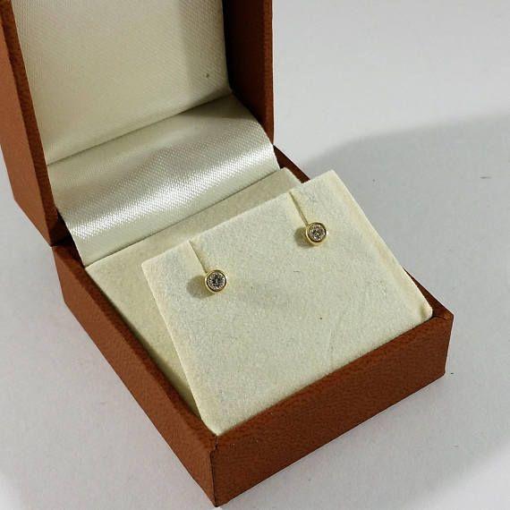 Ohrringe Ohrstecker Gold 585 Diamanten edel OR136
