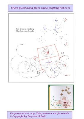 ED053 Christmasscene on Craftsuprint designed by Emy van Schaik - Stitching with beads - Now available for download!