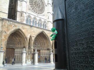 Ando contemplando la catedral.