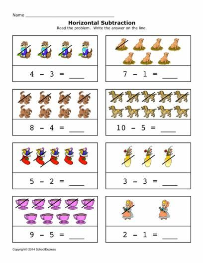 Create Your Own Addition Worksheets : Free horizontal math worksheets schoolexpress