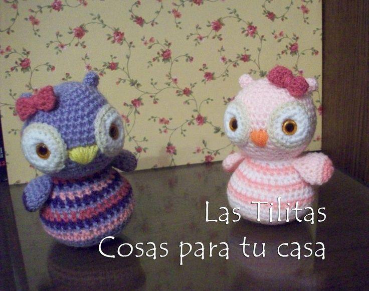 lechuzas tejidas crochet - amigurumis animales