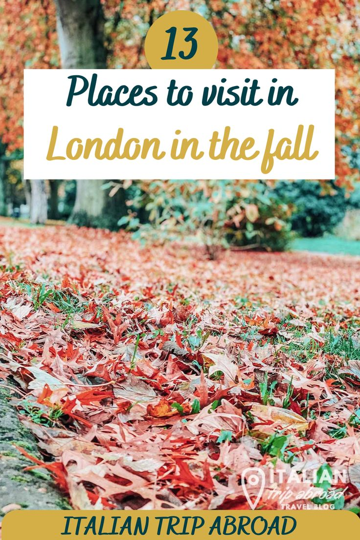 Places to visit in London in the fall