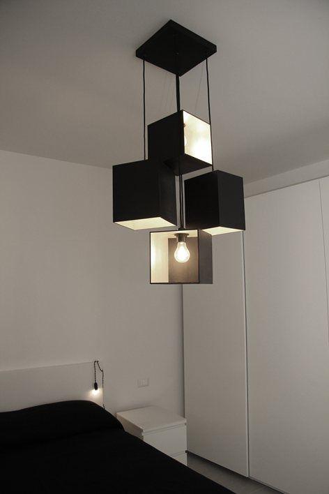 Abitazione FB, Foligno, 2015 - chiara marchionni  #lighting design #design #black lamp #lampadario #light #illuminazione #chandelier #black #lampadario nero #luce sospensione