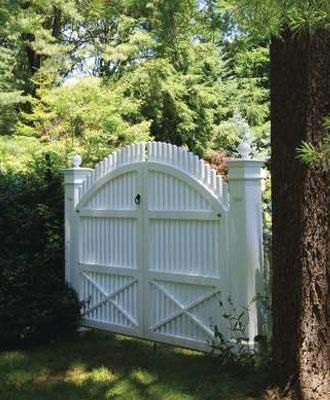 Chestnut Hill Garden Double Walk Gate | Wood, Solid Cellular PVC and Vinyl Driveway, Estate and Walkway Gates from Walpole Woodworkers