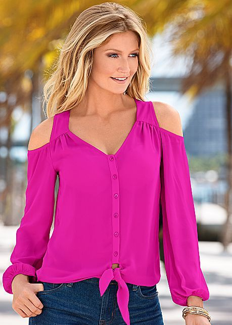 %PC% Cold shoulder blouse from VENUS