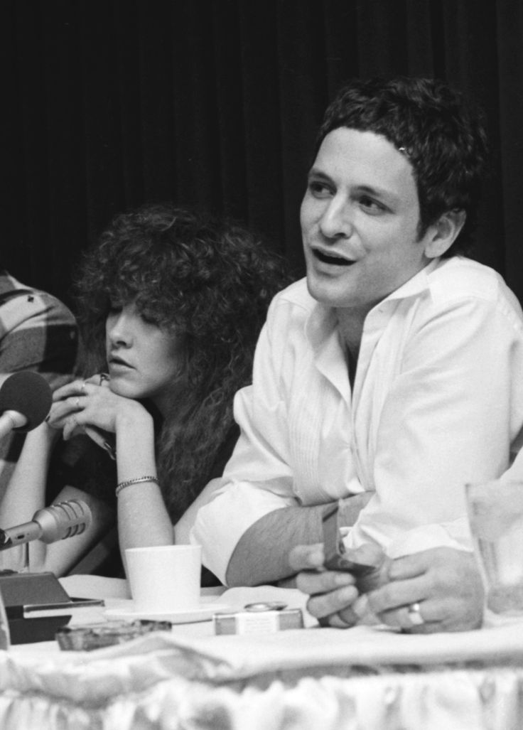 """""""Stevie and Lindsey at a pressconference in Ann Arbor, MI - Nov. 29, 1979. """""""