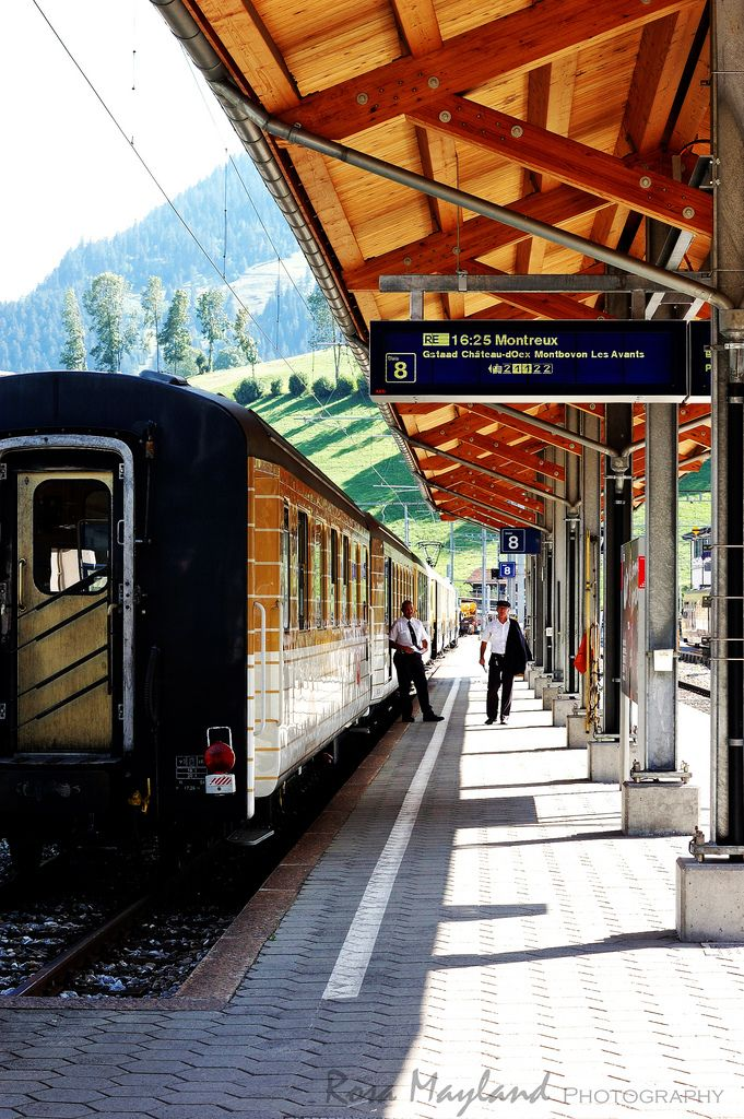 Zweisimmen Train Station , Switzerland