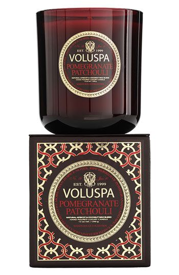 burning this in my house right now-amazing! Voluspa 'Maison Rouge - Pomegranate Patchouli' Scented Candle