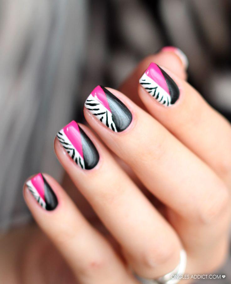 Black Nail Art: Best 25+ Zebra Nail Designs Ideas On Pinterest
