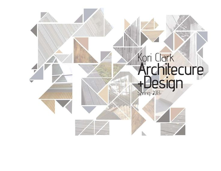3rd Year Architecture Portfolio  2010-2013 Design Work