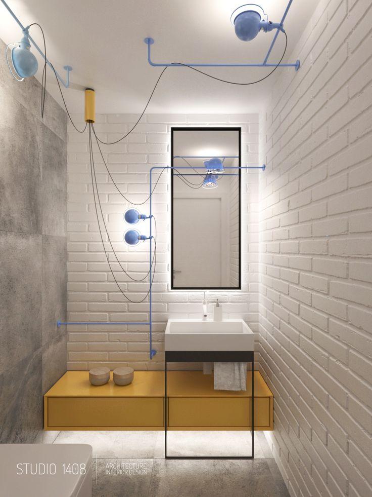 Niby biała łazienka, a jednak kolorowa ;)