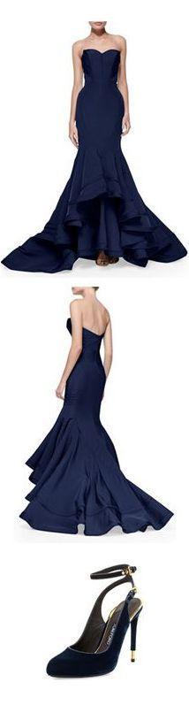Zac Posen Mermaid Gown | Tom Ford Evening Shoes | cynthia reccord