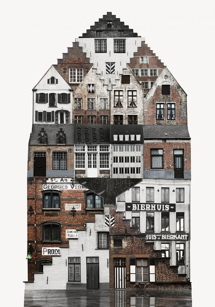 City Collages: Artist creates beautiful collages to study different cities and their architecture | Creative Boom