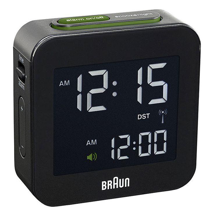 top3 by design - Braun - braun digital clock sq S black