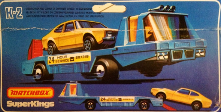 1978 Matchbox SuperKings K-2 Car Recovery Vehicle
