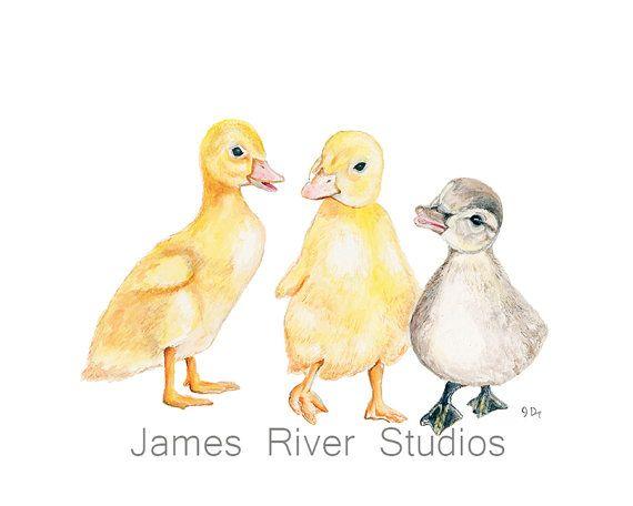 Duck Art Duck Painting Duck Art Print. Duck by JamesRiverStudios