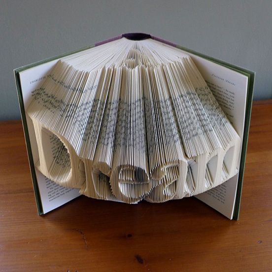 Amazingly Creative Sculptures On Folded Book Paper Art So cool :)