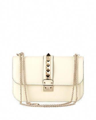 b249e658c6 Valentino Medium Rockstud Lock Bag, Ivory #Valentino   Valentino ...