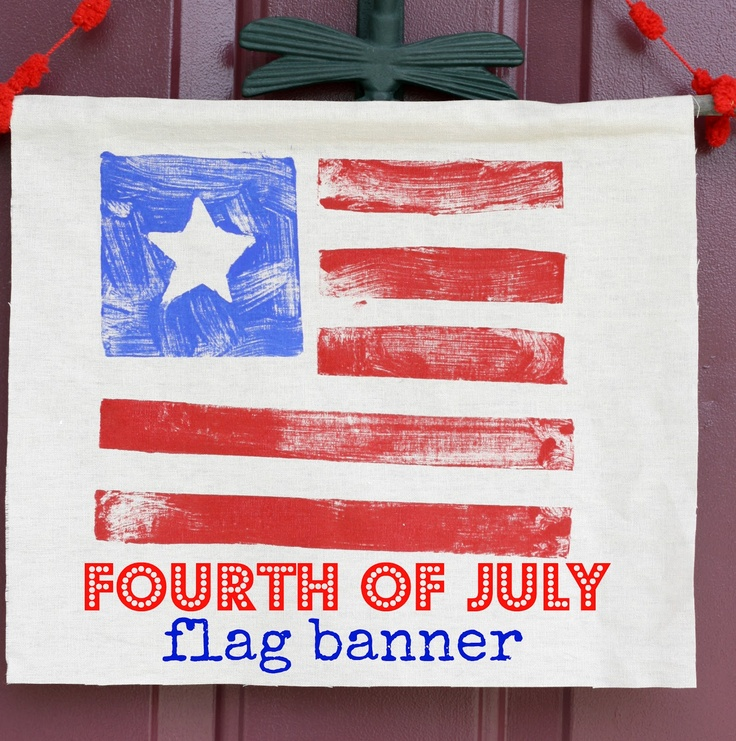 The Pretty Bee: 4th of July Craft: Stamped Flag Banner.: 4Th Crafts, Bees, Flag Banners, Diy Crafts, July Crafts, Stamped Flag, 4Th Of July, Craft Ideas