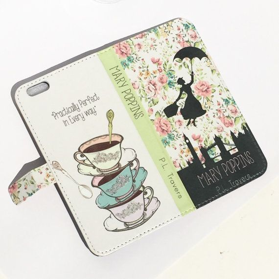 Book phone /iPhone flip Wallet case Mary by chicklitdesigns