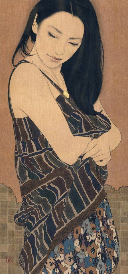 Yasunari Ikena (b 1965) Japanese artist. His paintings depict beautiful women…