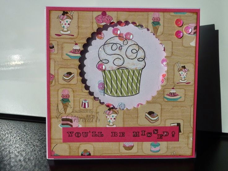 Handmade By Mirella: Cupcake Shaker Card