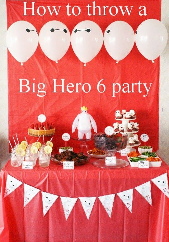 Big Hero 6 Party Ideas  #BigHero6Release  #ad