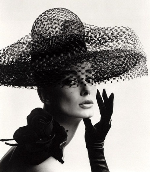 John French's 1950s fashion photograph of Tania Mallet in a Madame Paulette stiffened net picture hat, 1963 - his style had an elegant, pristine quality that I like...