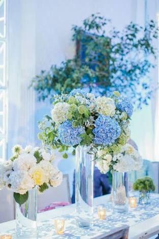 Resultado de imagem para casamento azul hortencia