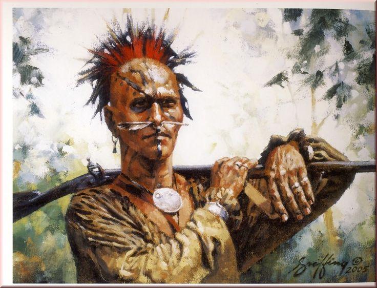 Shawnee in war paint