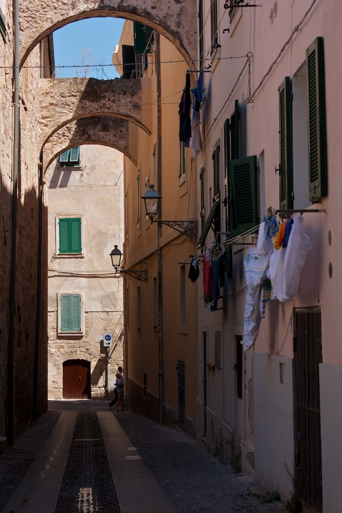 Streets of Alghero - Sardinia - Italy