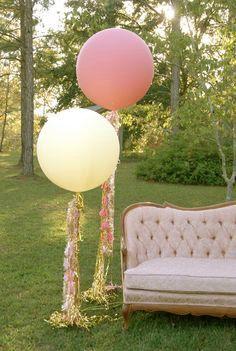 36 Inch Giant Balloons IVORY Wedding Graduation by DecorBySK