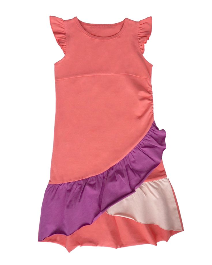 Very Fairy Colour-Blocked Dress | Girls Summer Collection | www.peekaboobeans.com