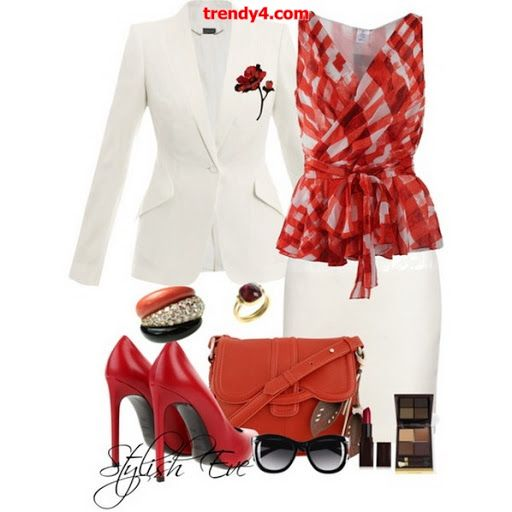 H m red dress shirt for ladies
