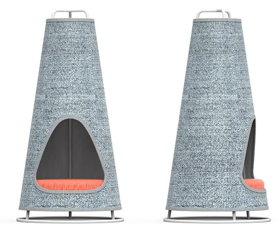 Cone Modern Cat Scratcher & Hideaway from Wiski