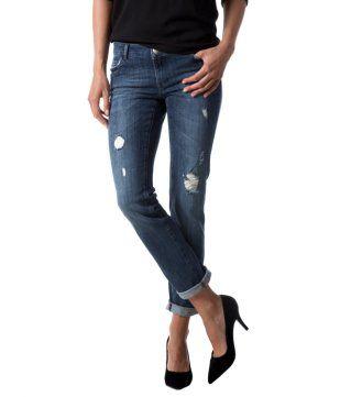 Damen-Jeans im Used-Look