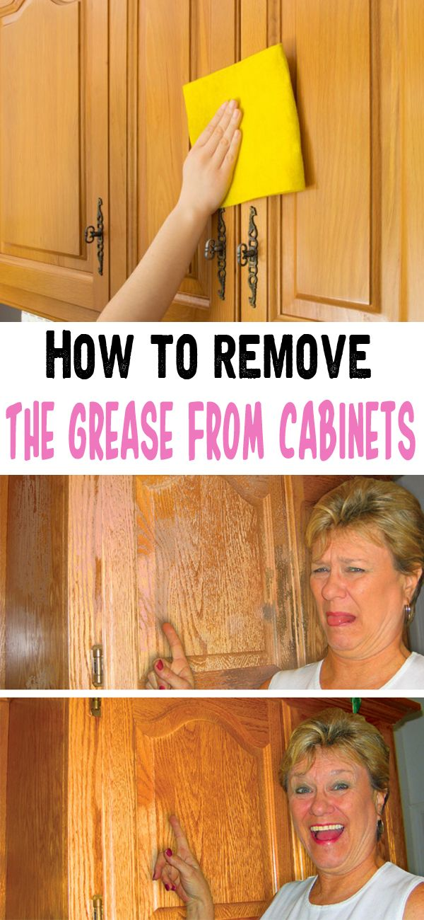 The 988 best images about household tips on pinterest stains house cleaners and hard water stains - How to remove grease stains from kitchen cabinets ...