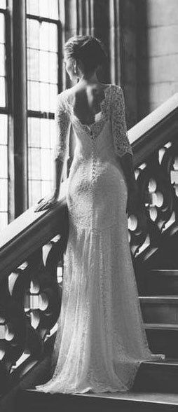 backless lace wedding dress for my wedding