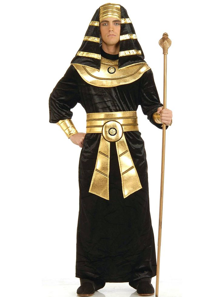 A portrait of you wearing this Egyptian Black and Gold Pharaoh Costume is hidden somewhere in the hieroglyphics of Pyramids of Giza.